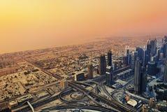 Dubai solnedgång Arkivbild