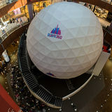 Dubai360 Spherical Projection Theater. Dubai 360: Spherical Projection Theater dispayed in Dubai Mall, DUbai, United Arab Emirates Royalty Free Stock Images