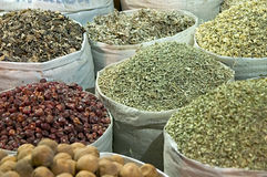Dubai Spice Souq. Spices piled up at Dubai's Spice Souq Royalty Free Stock Images
