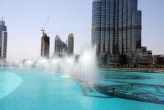 Dubai springbrunn Royaltyfria Foton
