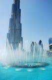 Dubai springbrunn Arkivfoton
