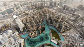 Dubai springbrunn Arkivbilder