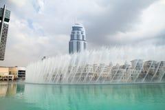 Dubai springbrunnar Royaltyfria Foton