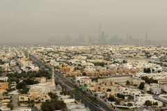 Dubai stads- landskap Royaltyfri Fotografi