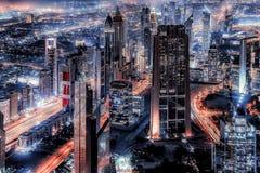 Dubai-Stadtansicht vom Hoch oben lizenzfreie stockfotografie