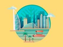 Dubai-Stadtgebäudeikone lizenzfreie abbildung