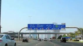 Dubai-Stadtverkehr, Vereinigte Arabische Emirate stock video footage