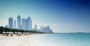 Dubai-Strand Stockfoto