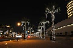 Dubai street at night Stock Image