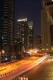 Dubai Street at night Royalty Free Stock Photography