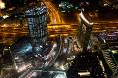 Dubai Streets at Night Royalty Free Stock Images