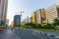 Dubai streets Royalty Free Stock Images