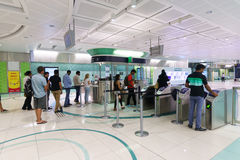 Dubai subway interior Royalty Free Stock Photo