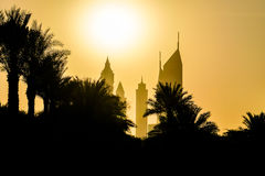 Dubai. Summer 2016. The city skyscrapers at sunset Stock Image