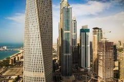 Dubai. Summer 2016. Modern skyscrapers in urban city style. Stock Photo