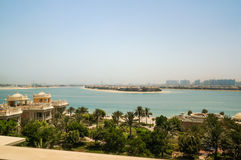 Dubai. In the summer of 2016. Oasis of the Kempinski The Palm hotel on the Persian Gulf, Jumeirah. Oasis of the Kempinski The Palm hotel on the Persian Gulf Royalty Free Stock Photography