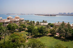 Dubai. In the summer of 2016. Oasis of the Kempinski The Palm hotel on the Persian Gulf, Jumeirah. Oasis of the Kempinski The Palm hotel on the Persian Gulf Royalty Free Stock Image