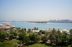 Dubai. In the summer of 2016. Oasis of the Kempinski The Palm hotel on the Persian Gulf, Jumeirah. Oasis of the Kempinski The Palm hotel on the Persian Gulf Royalty Free Stock Photo
