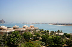 Dubai. In the summer of 2016. Oasis of the Kempinski The Palm hotel on the Persian Gulf, Jumeirah. Oasis of the Kempinski The Palm hotel on the Persian Gulf Stock Photography