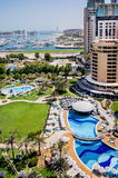 Dubai. In the summer of 2016. Oasis of the Le Royal Meridien Beach Resort Spa hotel on the Persian Gulf, Jumeirah. Oasis of the Le Royal Meridien Beach Resort royalty free stock photos