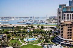 Dubai. In the summer of 2016. Oasis of the Le Royal Meridien Beach Resort Spa hotel on the Persian Gulf, Jumeirah. Oasis of the Le Royal Meridien Beach Resort royalty free stock photography