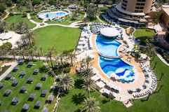Dubai. In the summer of 2016. Oasis of the Le Royal Meridien Beach Resort Spa hotel on the Persian Gulf, Jumeirah. Oasis of the Le Royal Meridien Beach Resort stock photo