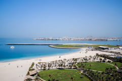 Dubai. In the summer of 2016. Oasis of the Le Royal Meridien Beach Resort Spa hotel on the Persian Gulf, Jumeirah. Oasis of the Le Royal Meridien Beach Resort stock image