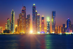 Dubai sunrise Royalty Free Stock Photography