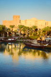 Dubai at sunset Stock Images