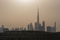 Dubai at sunset Royalty Free Stock Photography