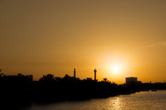 Dubai sunset Stock Photos