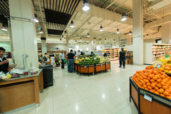 Dubai Supermarket Waitrose on August 8 i Stock Photo