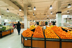 Dubai Supermarket Waitrose on August 8 i Royalty Free Stock Photo