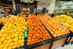 Dubai Supermarket Waitrose on August 8 i Stock Images