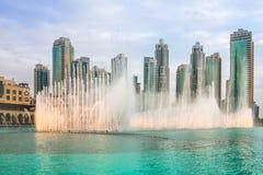 Dubai-Tanzen-Brunnen Stockfoto