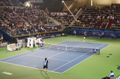Dubai tennis tournament 2012 Stock Photo