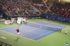 Dubai tennis tournament 2012 stock images