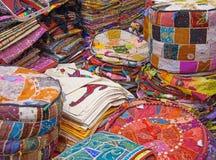 Dubai textile market Royalty Free Stock Images