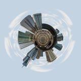 Dubai tiny little planet Royalty Free Stock Photo
