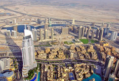 Dubai top view Royalty Free Stock Image
