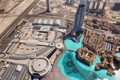 Dubai, the top view on Dubai downtown Stock Image