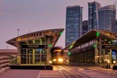 The Dubai Tram located in Al Sufouh, Dubai, UAE Royalty Free Stock Images