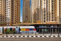 The Dubai Tram located in Al Sufouh, Dubai, UAE Royalty Free Stock Photo