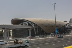 Dubai transport system station Stock Images