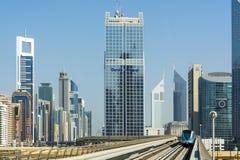 Dubai tunnelbana royaltyfri foto