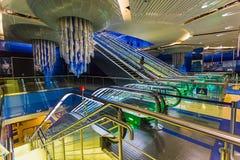 Dubai tunnelbana som världs längst fullständigt automatiserat tunnelbananätverk (75 Royaltyfria Foton