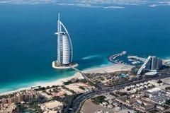 Dubai, UAE. Árabe del Al de Burj desde arriba Imagen de archivo libre de regalías