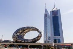 Free Dubai, UAE - 03.15.2021 Museum Of The Future And Emirates Towers. City Royalty Free Stock Photos - 213444168