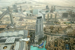 Dubai, UAE. Aerial view from the height of Burj Khalifa Stock Photos