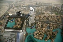 Dubai, UAE. Aerial view from the height of Burj Khalifa Royalty Free Stock Photo